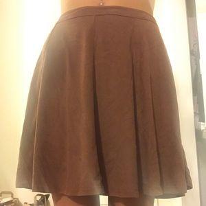 Dresses & Skirts - Light brown felt like skirt